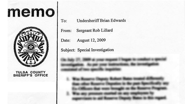 TCSO Reserve Deputy Bob Bates Received Special Treatment, Report Shows
