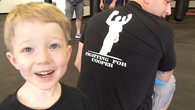 'Warrior 3-Year-Old' Tulsa Firefighter's Inspiration To Fight For Charity