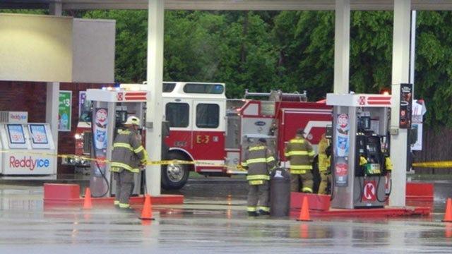 Truck Breaks Gas Pump, Causes Huge Leak In Okmulgee
