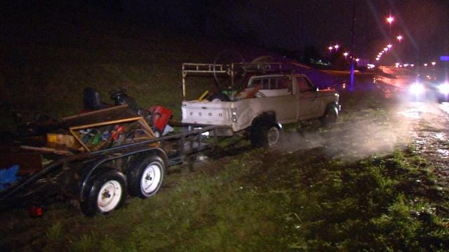 Truck Runs Pickup Off Sand Springs Highway
