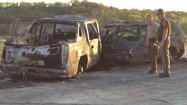 3 Dead After Fiery Head-On Crash In Muskogee County