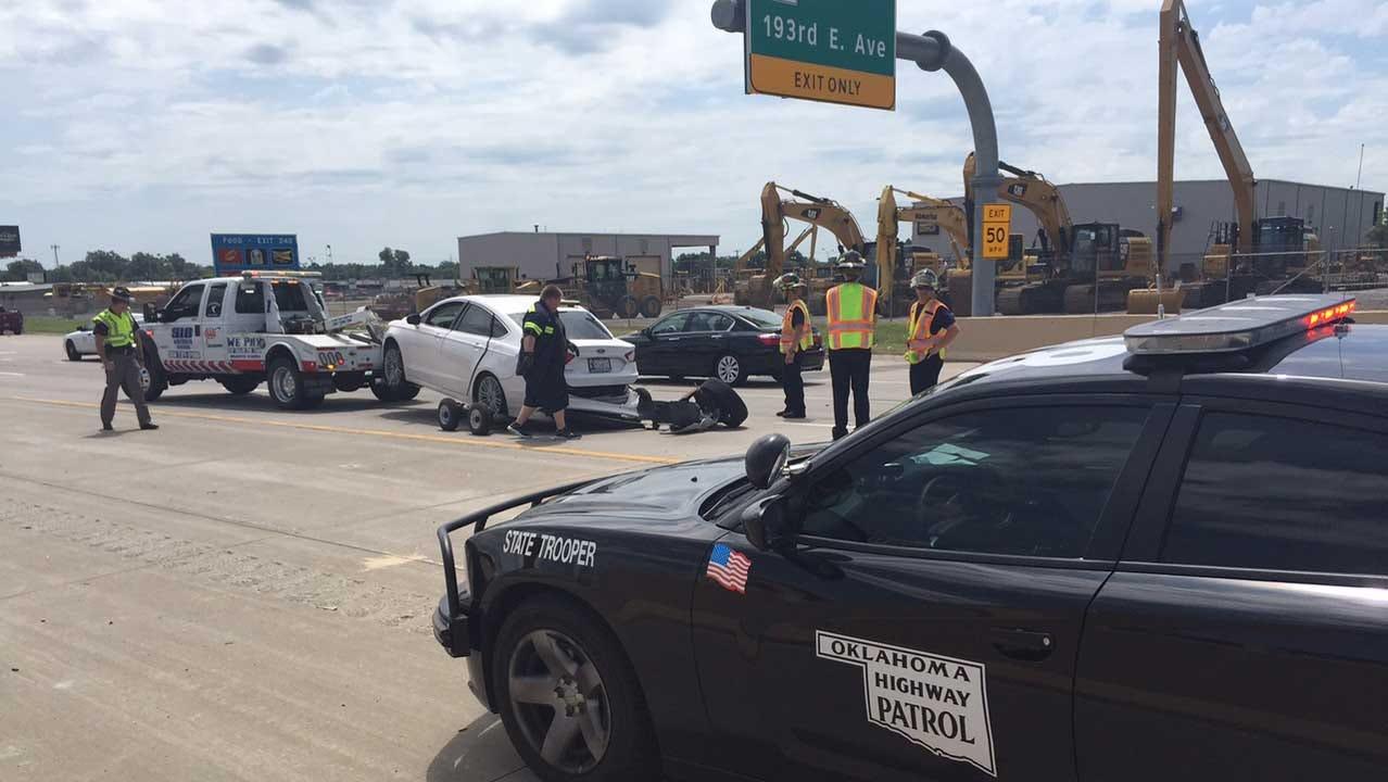 Multi-Vehicle Wreck Snarls Traffic Near Hard Rock Casino In Catoosa