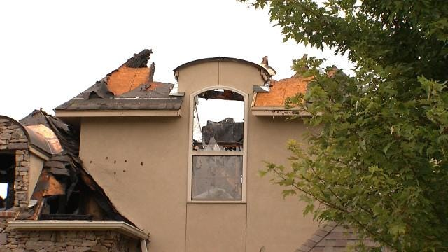 Lightning Starts Fire, Destroys Owasso Home