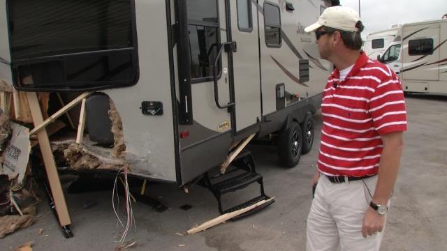 Tulsa RV Dealer Frustrated After Vehicle Crashes Into Property, Driver Flees