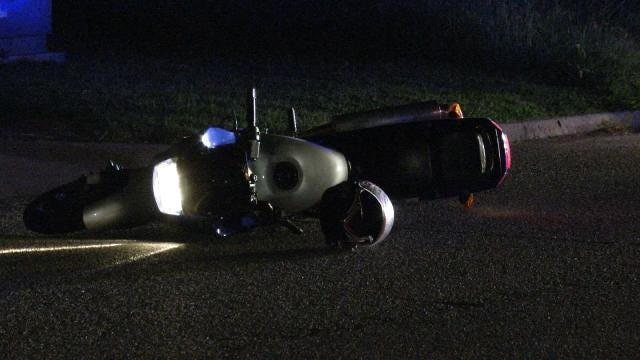 Tulsa Police: Motorcyclist Crashes During Pursuit