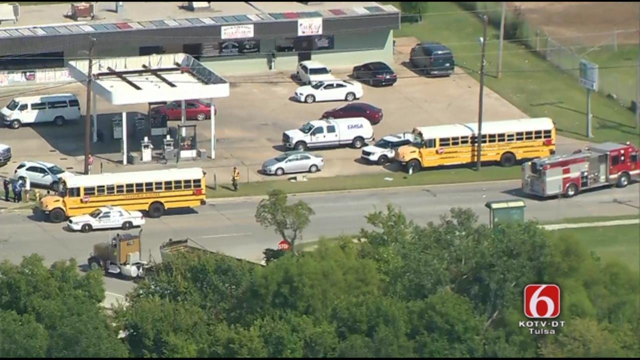 Tulsa School Bus Involved In Hit-And-Run Crash