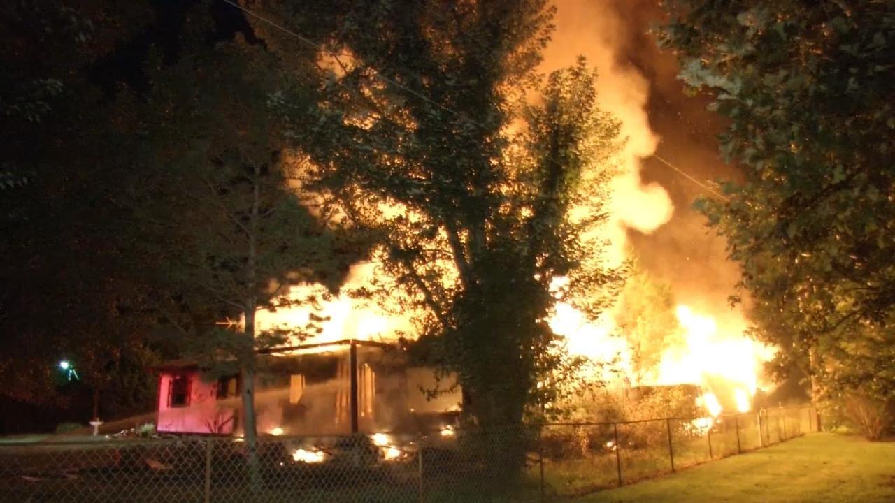 Fire Destroys Home Near Sand Springs
