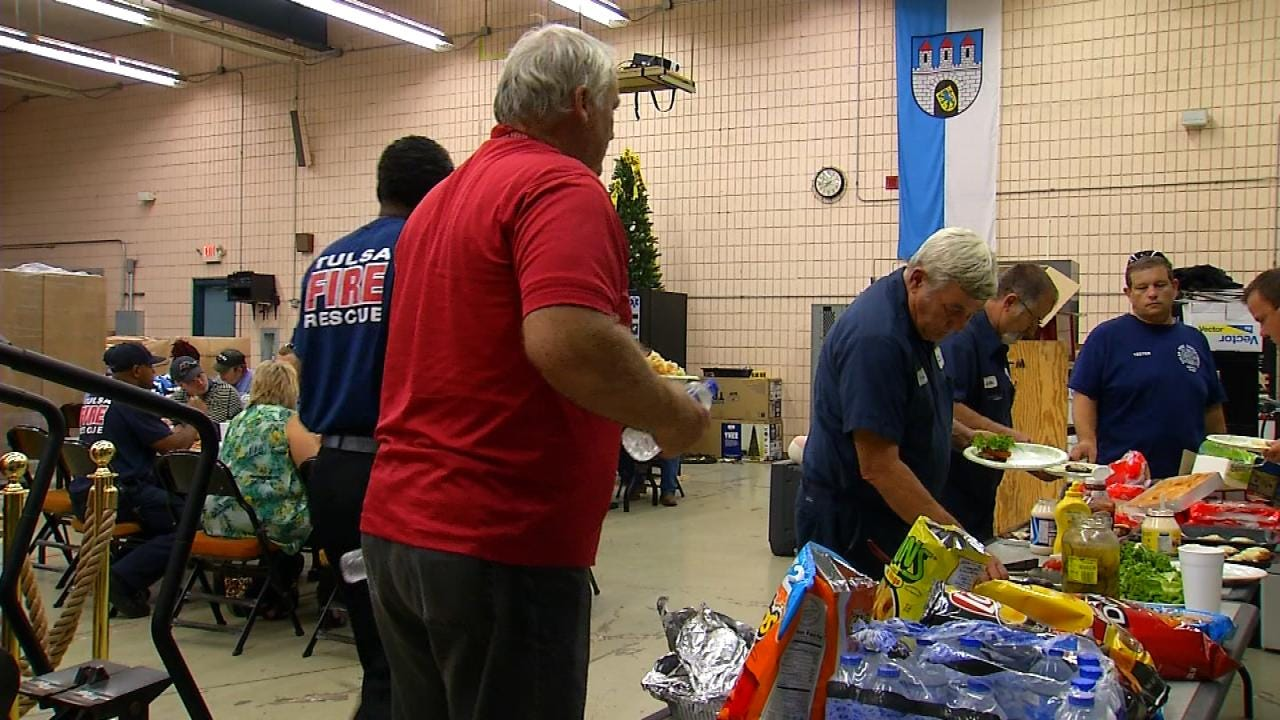 Tulsa Widow, Fire Chief Host Lunch To Mark Station 15's Outstanding Service