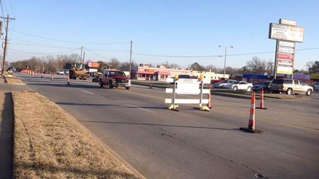 Year-Long Project Begins To Rebuild Part Of Tulsa's Sheridan Road
