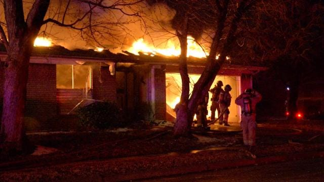 Fire Consumes East Tulsa Home Early Saturday