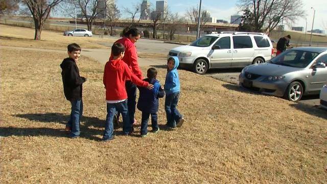 Green Country Students Spend Snow Day At Park