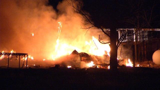 Fire Destroys Trailer Home Near Sperry