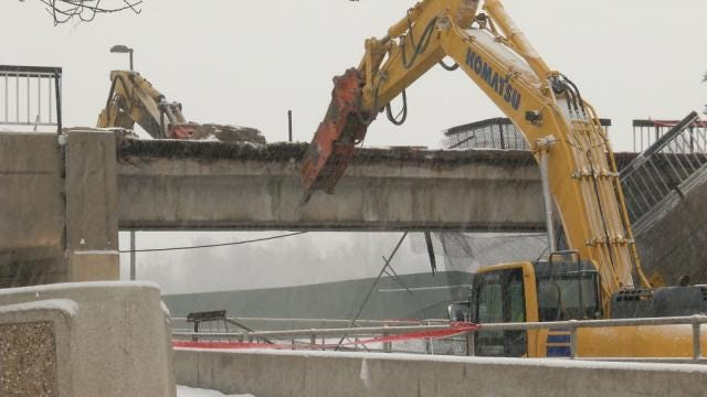 Riverside Bridge Comes Down Early Due To Crumbling Concrete Falling On Cars