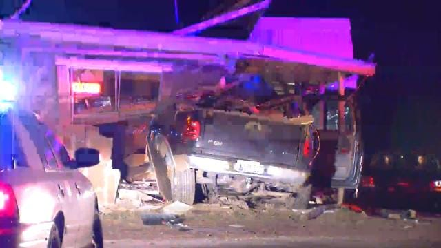 Police: Driver Killed When Truck Hits Building Near Beggs