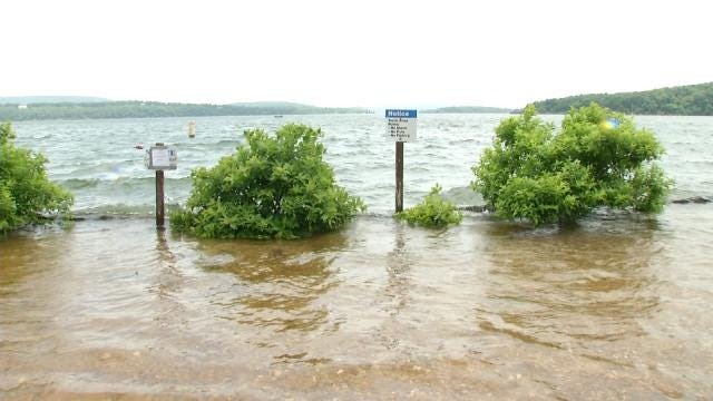 Flooded Oklahoma Lakes Force Changes To Some Firework Festivities