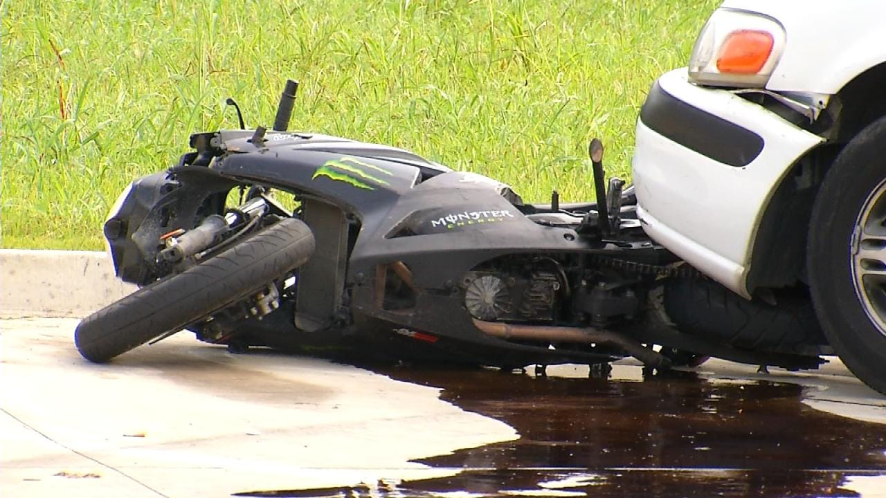 Tulsa Police: Motorcycle Rider Run Down By Ex-Girlfriend In Minivan