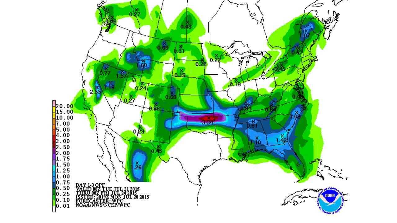 Dick Faurot's Weather Blog: Break in the Heat, Chance of Showers/Storms
