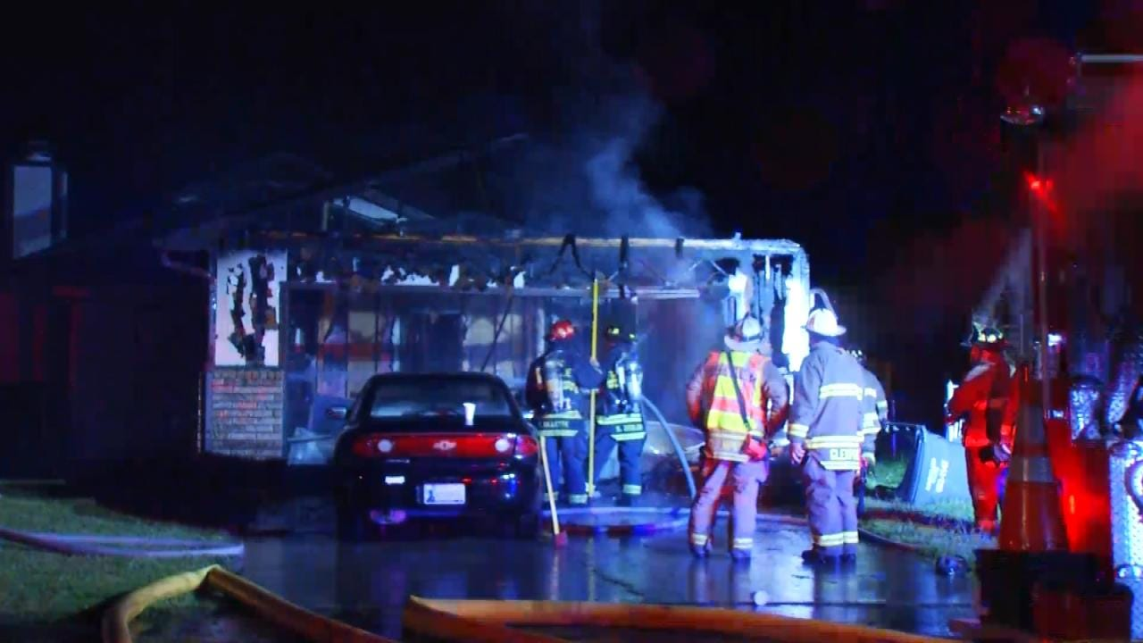 Non-Stop Lightning Sparks Several Tulsa-Area House Fires