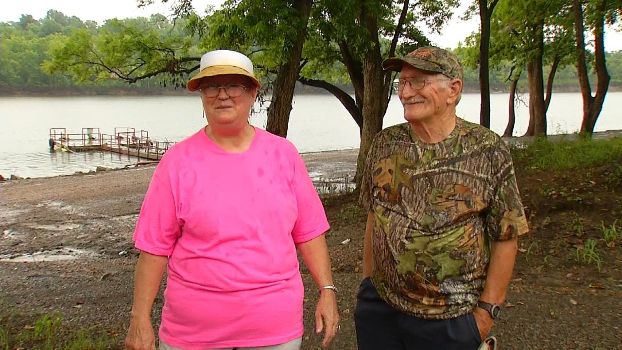 Couple Shatters Catfish Record At Fort Gibson Lake