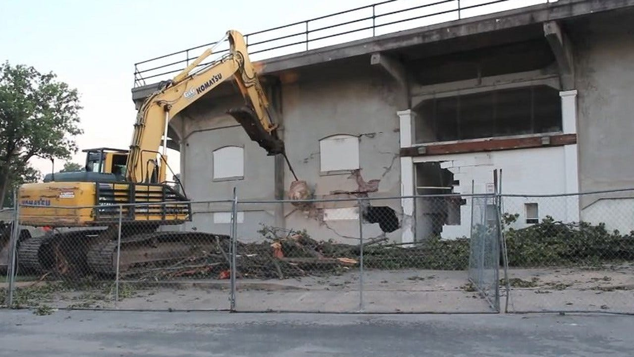 Historic Grandstand Torn Down In Independence, Kansas