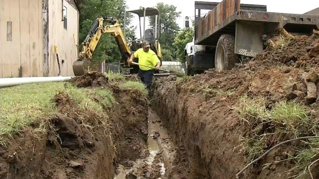 Water Line Repairs Underway In Inola