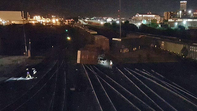 Six Railroad Cars Derail In West Tulsa Train Yard