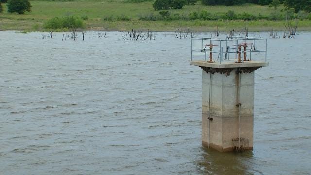 Lone Chimney Lake Still Near Critical Despite Oklahoma Flooding Elsewhere