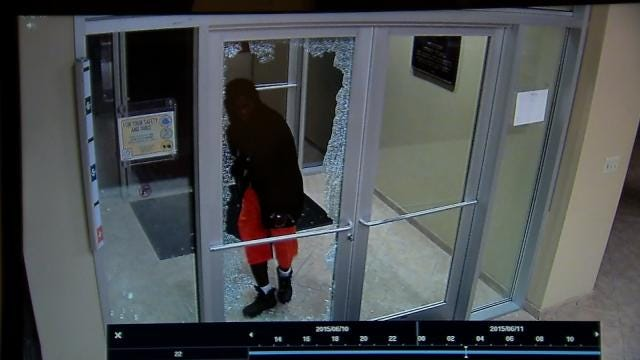 Caught On Video: Man Breaks Into Tulsa Bank