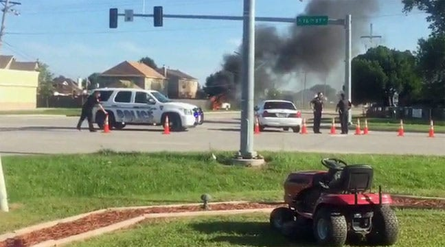 Driver Rescued From Fiery Owasso Crash Into Power Pole