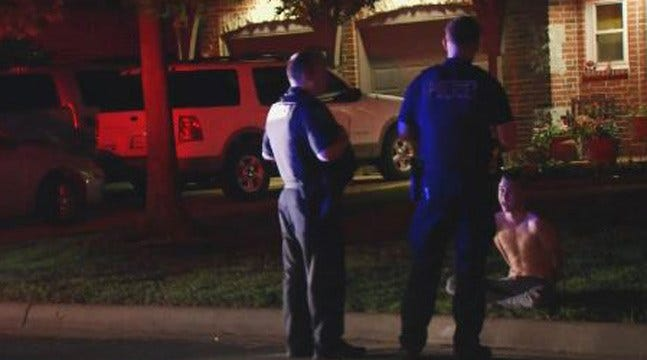 National Guardsman Holds Tulsa Burglary Suspect At Gunpoint