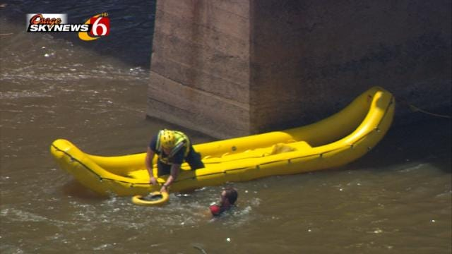 Tulsa Firefighters Warn Of Swift Water Dangers After Water Rescue