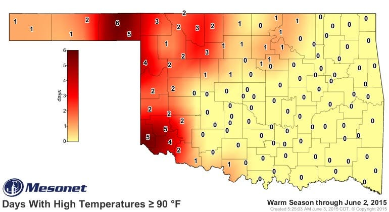 Dick Faurot's Weather Blog: May See First 90 Degree Temperature This Week