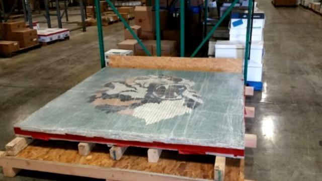 Broken Arrow School Tiger Mosaic Moved To Storage