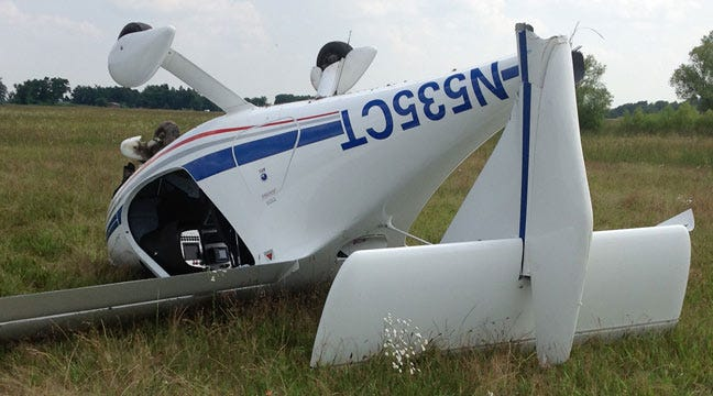 Small Plane Crashes Near Haskell Airport