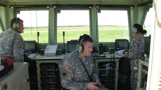 National Guard Holds Training Exercises At Muskogee Airport