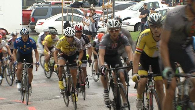 Downtown Street Preps Underway For Tulsa Tough Bicycle Race