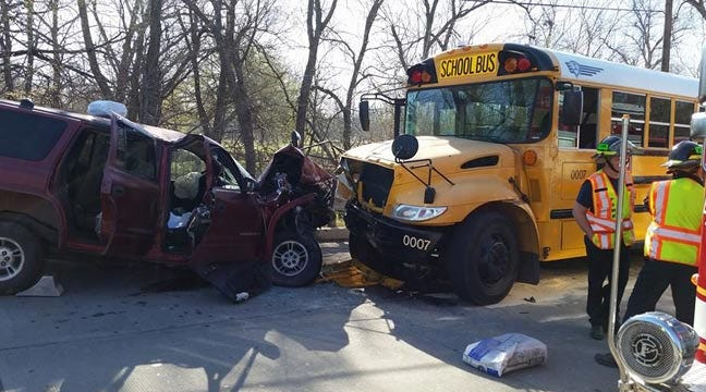 Students Hurt When SUV Collides With Tulsa School Bus