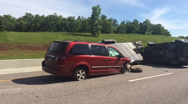 Multi-Vehicle Wreck Blocks Traffic On Turner Turnpike Near Stroud