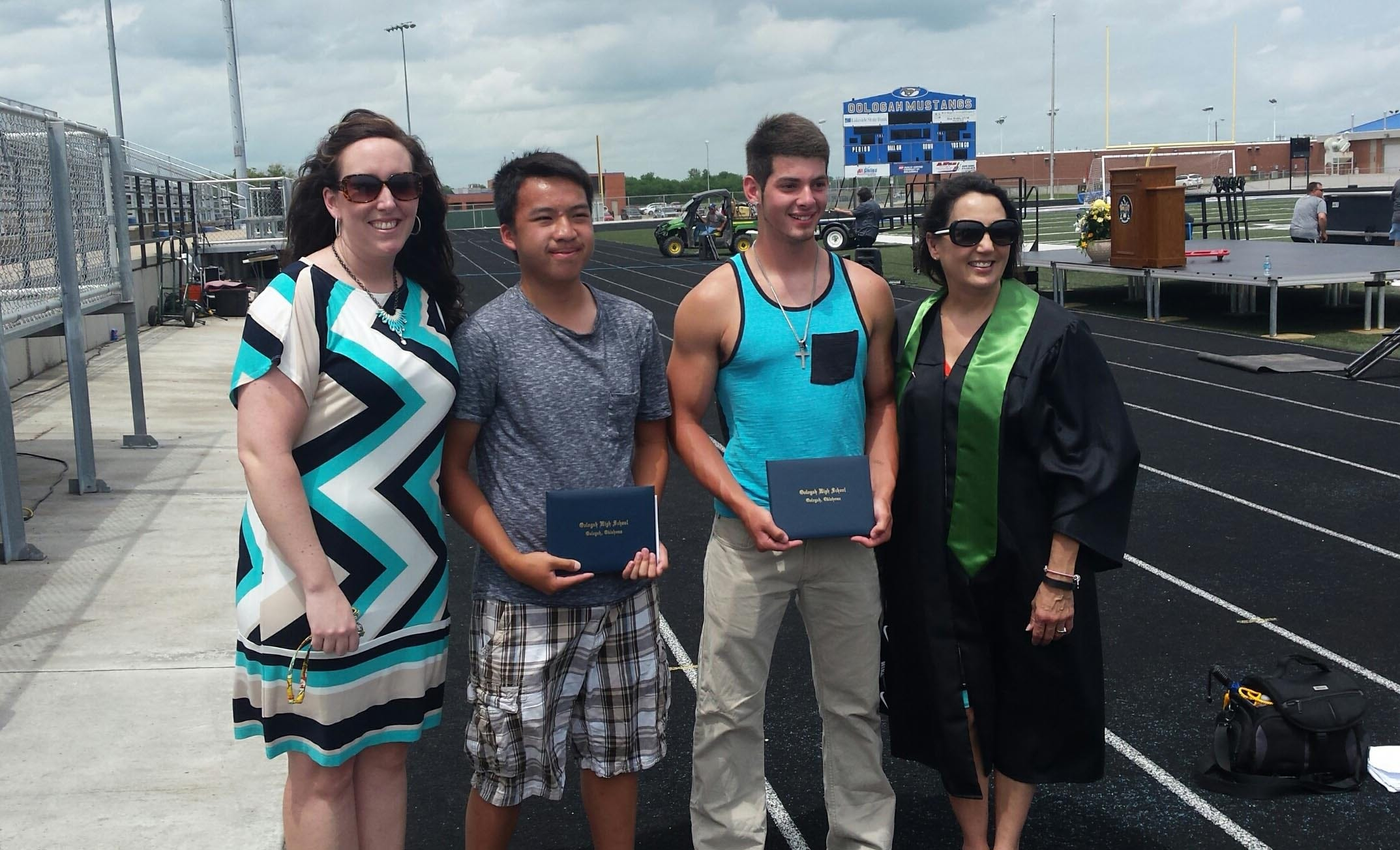 Gesture Of Kindness Allows Two Oologah Boys To Participate In Graduation