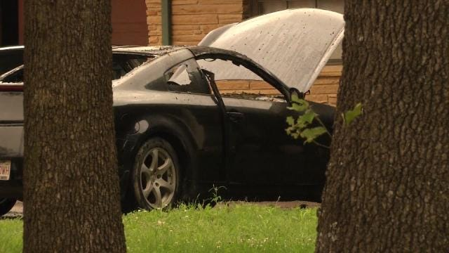 Arsonist Damages Car, Pickup Outside Creek County Home