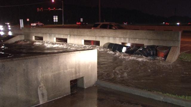 Tulsa Street Flooding Leads To High Water Rescues