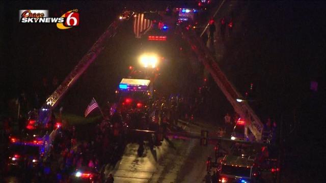Hundreds Honor Fallen Claremore Firefighter, Family