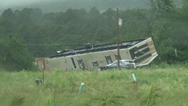Storms, Possible Tornado Cause Extensive Damage Near Poteau
