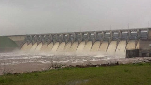 Keystone Lake Still Rising; Corps Increases Dam Outflow