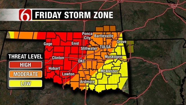 Severe Weather, Hail Threat Facing Eastern Oklahoma