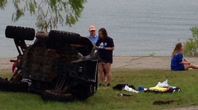Teenage Girl's Arm Amputated In UTV Crash At Keystone Lake, OHP Says