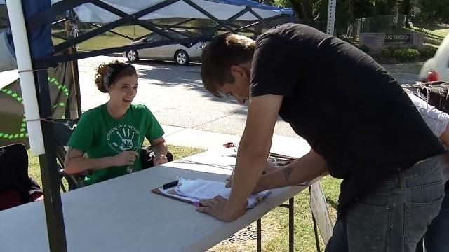 Medical Marijuana Petitions Circulate Outside Tulsa State Fair