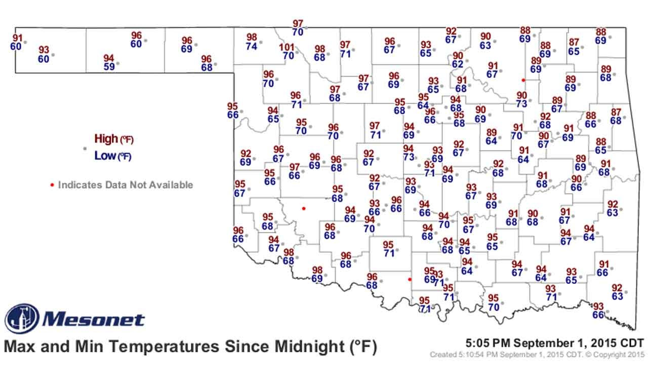 Dick Faurot's Weather Blog: Warm Start To September