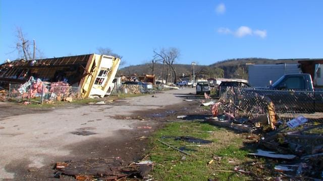 Day Of Caring Volunteers Help Sand Springs Tornado Victim