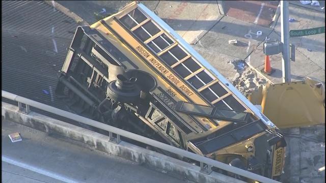 Two Students Die In Houston School Bus Crash